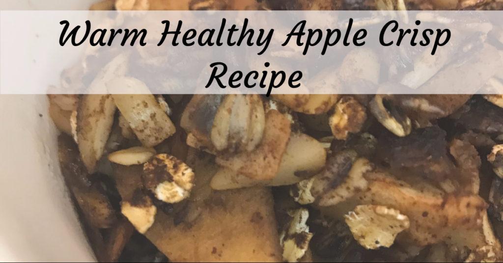 low-sugar, gluten-free apple crisp recipe