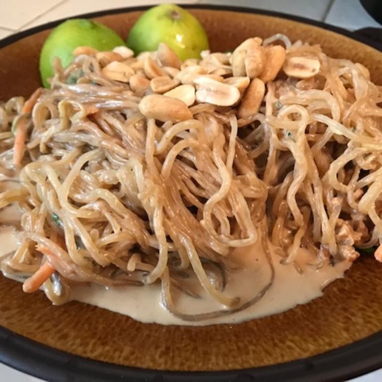 asian peanut noodles - healthy