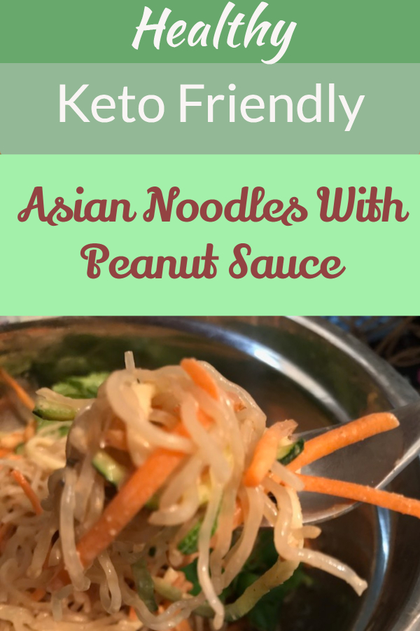 Healthy noodles with peanut sauce (low-carb noodle substitutes/ healthier noodle options/ diet noodle dish/ keto friendly noodle dish/ low-carb noodle dish/ diet friendly Chinese food/ noodles that help with weight loss/ diet comfort food/ diet peanut dish/ easy keto recipe/ easy comfort food recipe/ 10 minute diet recipe/ no sugar peanut sauce/ stevia sweetened peanut sauce)