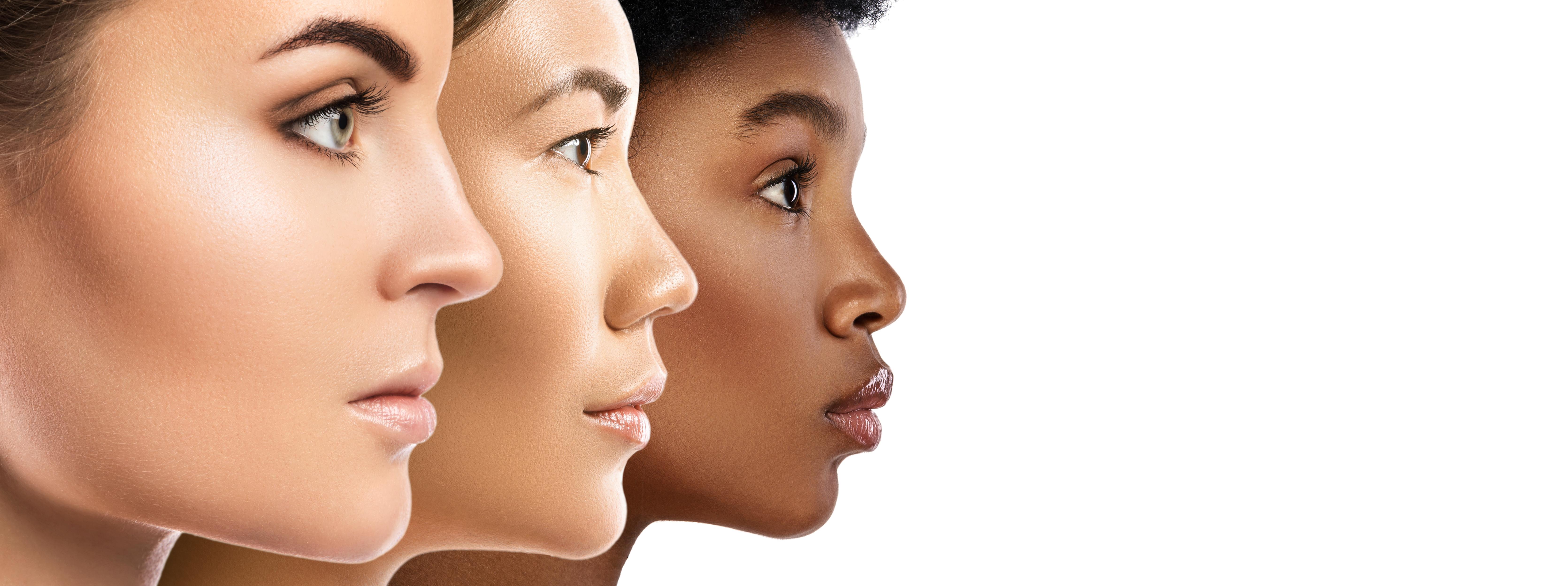 Multi-ethnic beauty. Different ethnicity women - Caucasian, African, Asian.