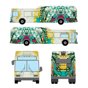 Beth Inglish Artist The Joy Bus We Go Nashville Public Transit Studio 208 Art