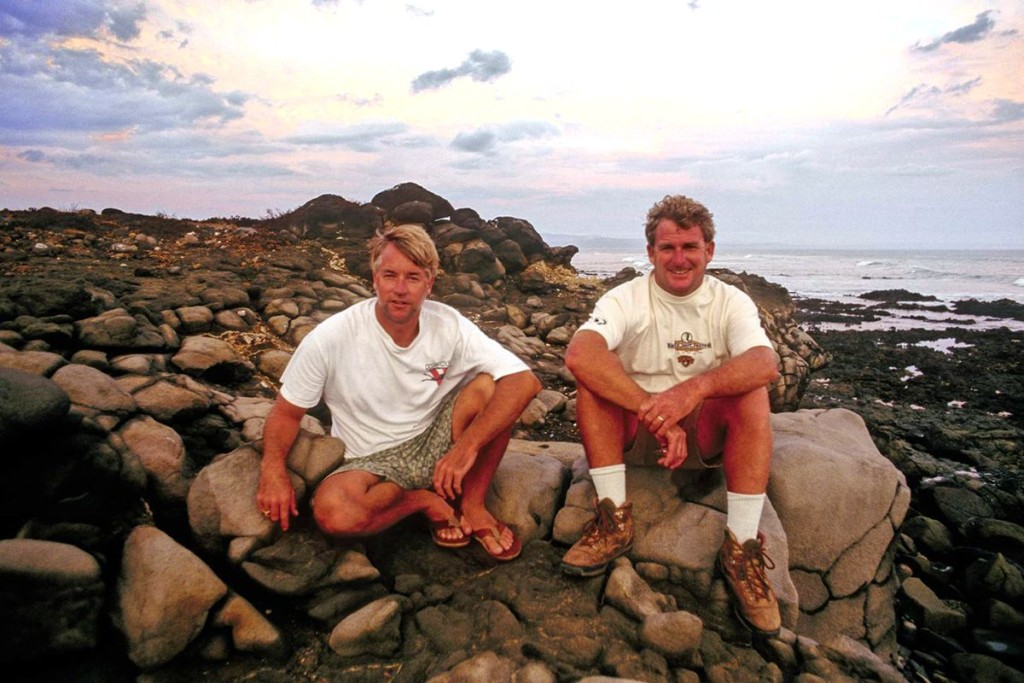 Craig Peterson and Kevin Naughton in Baja, California