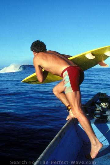 Kevin Naughton at Cloudbreak, Fiji. SURFER Cover, Dec. 1984. Photo by Craig Peterson
