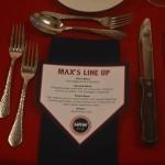 Red Sox Themed Bar Mitzvah - Theme Menu