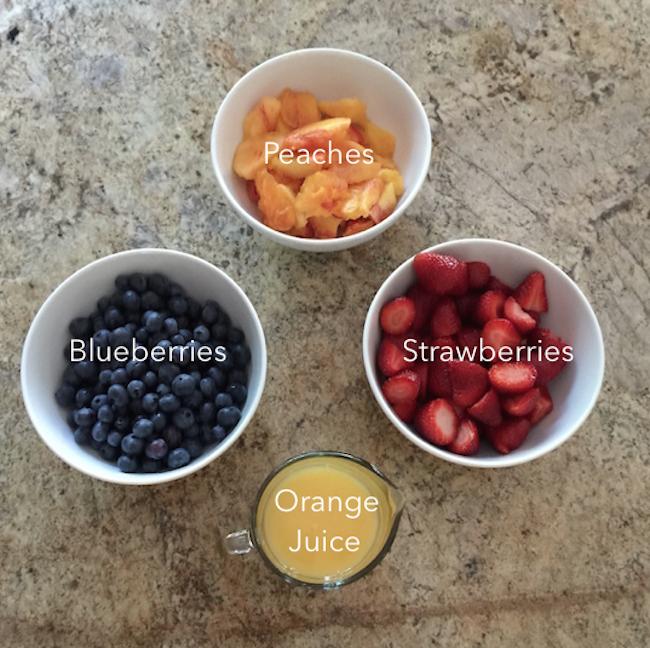 Fresh Fruit Popsicle ingredients