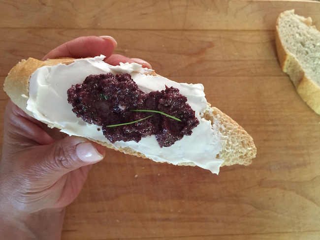 olive spread with cream cheese
