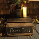 Gift box for envelopes for rustic wedding