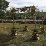Chuppah by Events by Amy with Sunflowers