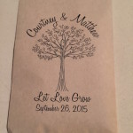 seed party favors for rustic wedding