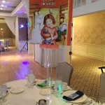 Giant Book Centerpiece of Little House for Book Themed Bat Mitzvah Party