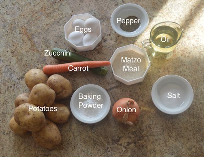 Potato Pancakes (Latkes) Ingredients