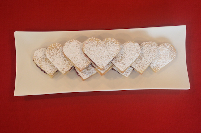 Finished Heart-Shaped Cookies