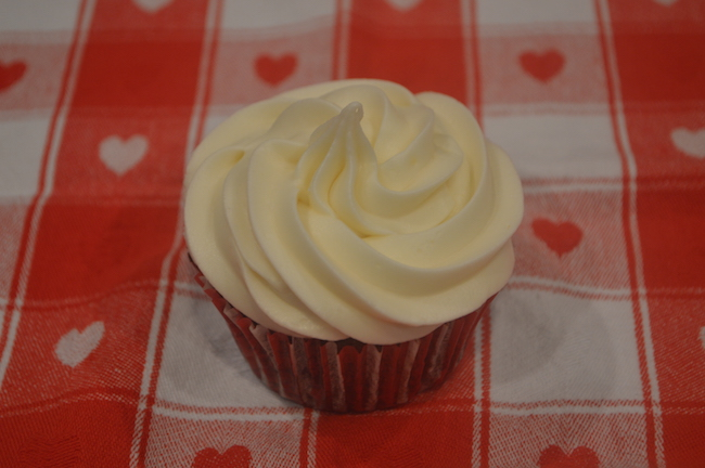 Frosted Red Velvet Cupcake