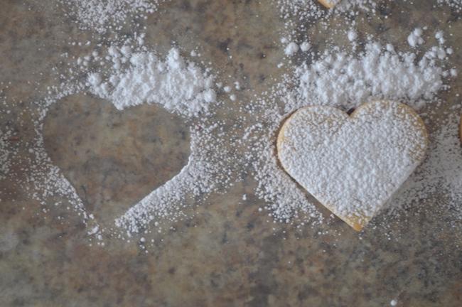 Sugar covered cookies