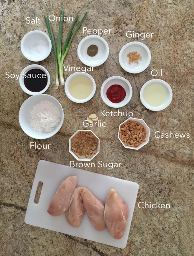 Recipe - Cashew Chicken