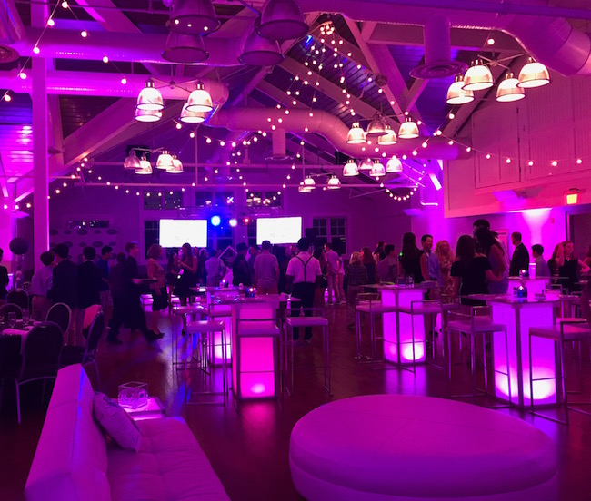 Purple and Silver Nightclub Inspired Bat Mitzvah Party