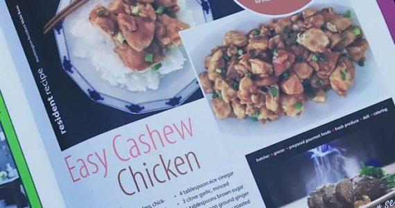 Cashew Chicken Recipe in Northington Living Magazine