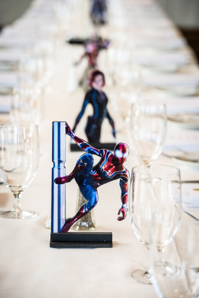 Avengers table decorations