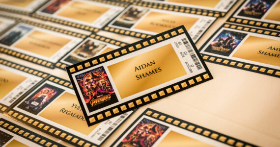 Movie Ticket Escort Cards