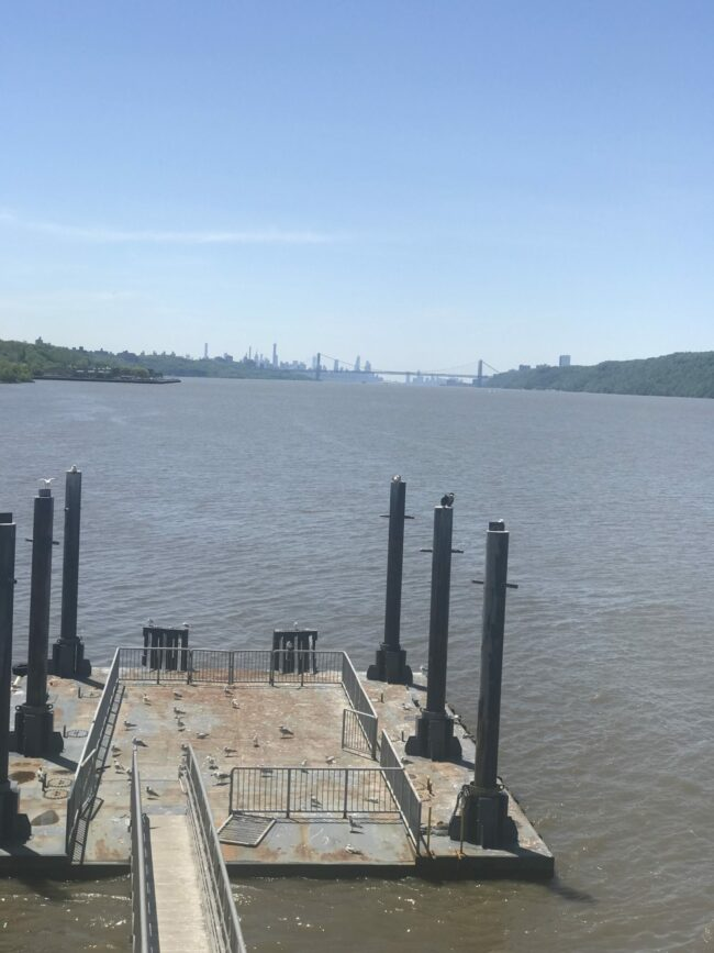 Hudson River from deck