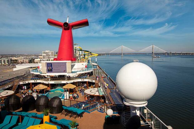 Carnival Sunshine in the Port of Charleston