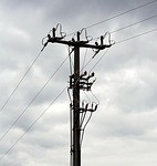 Damaged Pole Causes Tuesday Night Power Outage