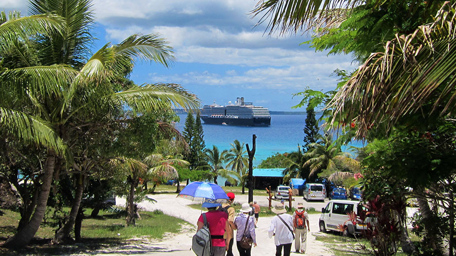 ms Oosterdam viewed from Lifou, New Caledonia