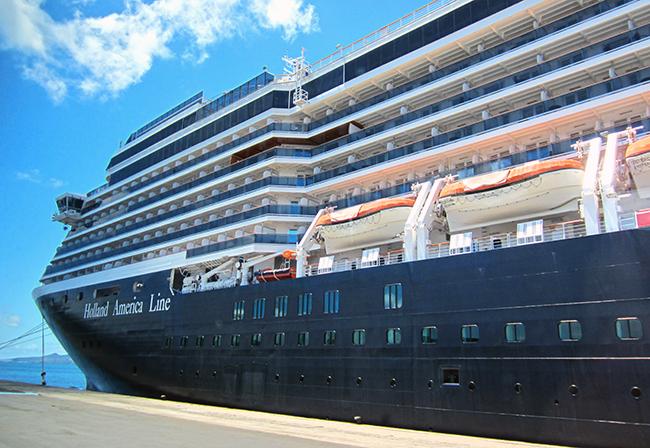 ms Oosterdam a Holland America Line ship. Photo: Chris Ashton