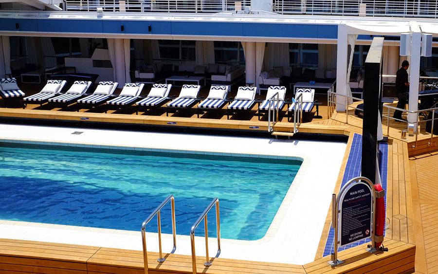The swimming pool deck. Photo: Chris Ashton