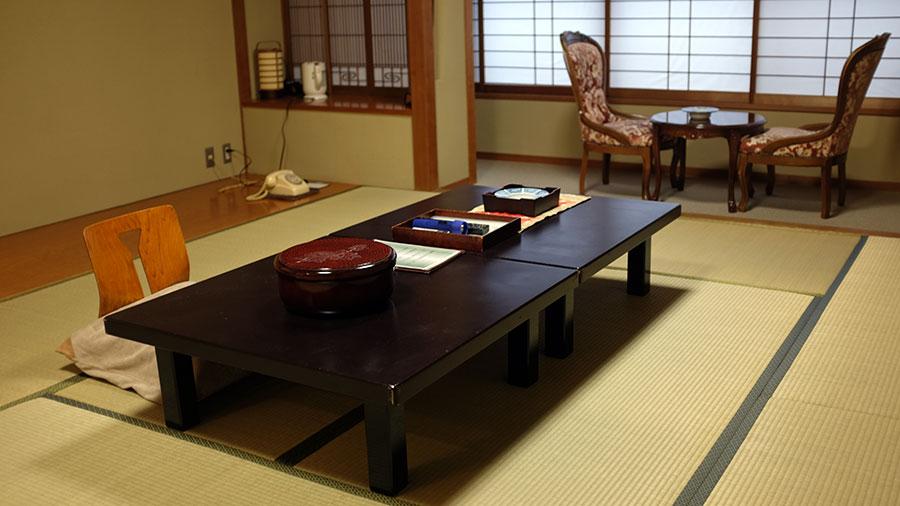 Guest room at Fujiya Ryokan. Photo: Chris Ashton