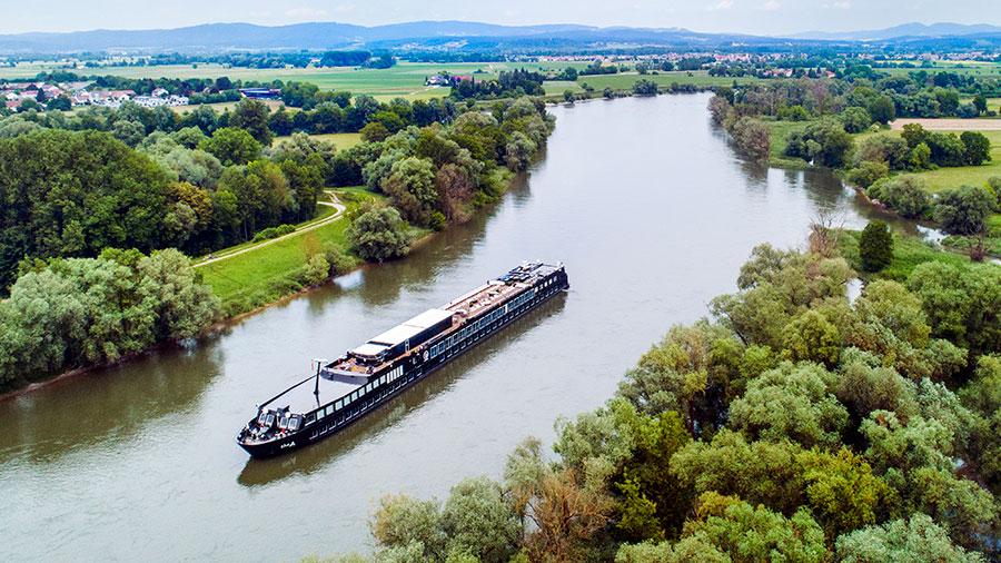 The A cruising along The Rhine. Credit: U River Cruises