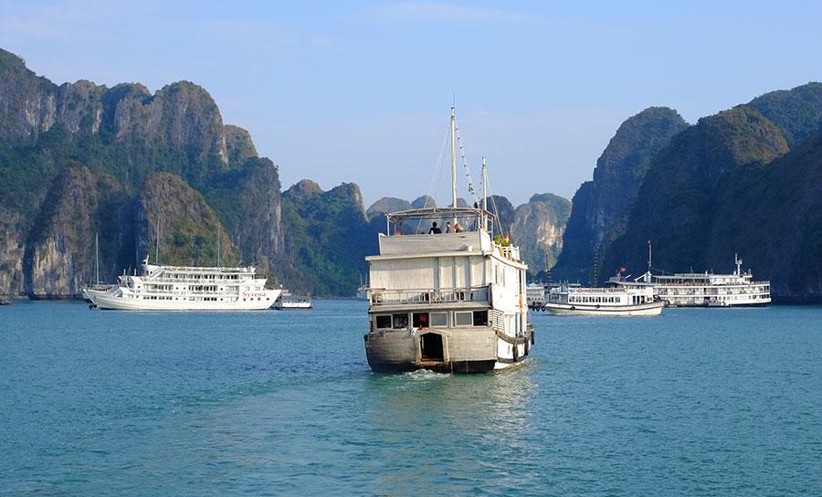 A Vietnamese junk boat on Ha Long Bay. Photo: Chris Ashton