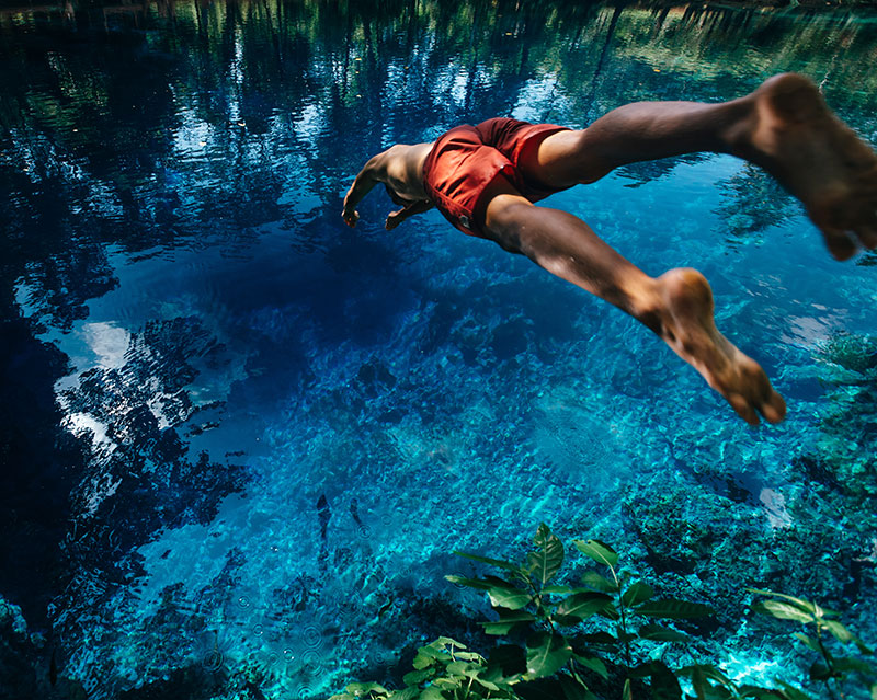 Espiritu Santo Blue Hole. Credit: Joel Johnsson. Supplied.