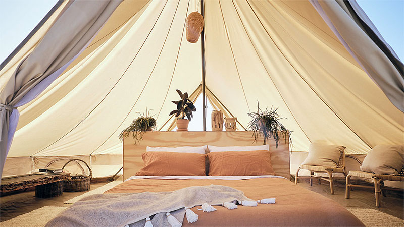 Glamping tent in Byron Bay. Credit: Riparide