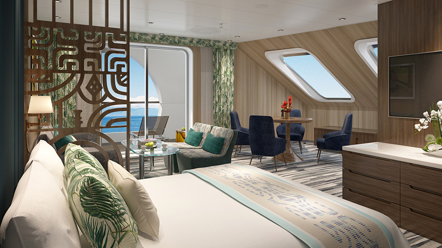 One of the new Grand Suites. Credit: Aranui Cruises