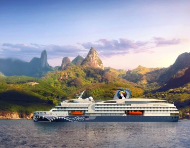 A render of Aranui Cruises' new AraMana ship. Credit: Aranui Cruises