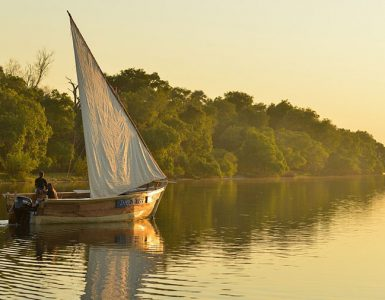 A dhow boat on the Zambezi. Source: Jenman Safaris