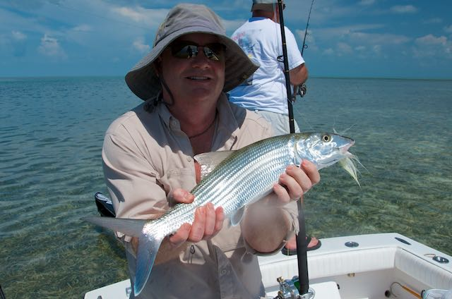 Bonefish caught on the flats.