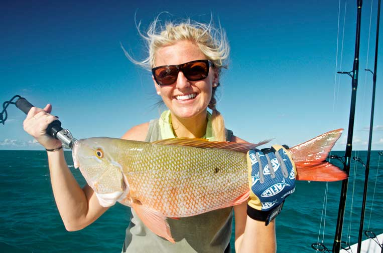 Fishing for mutton snapper in Key West