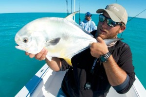 Capt. Kelso with a nice Marquesas Keys permit
