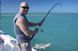 Thumbs up to lemon shark fishing