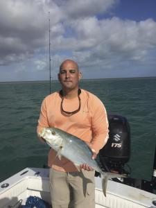 Yellow jack caught while tarpon fishing
