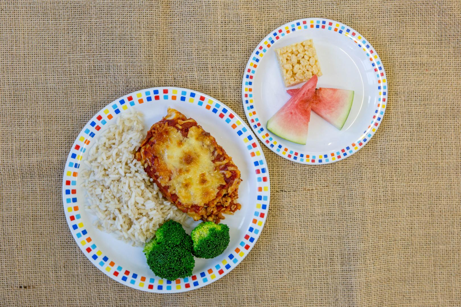 School Dinner Food Photography