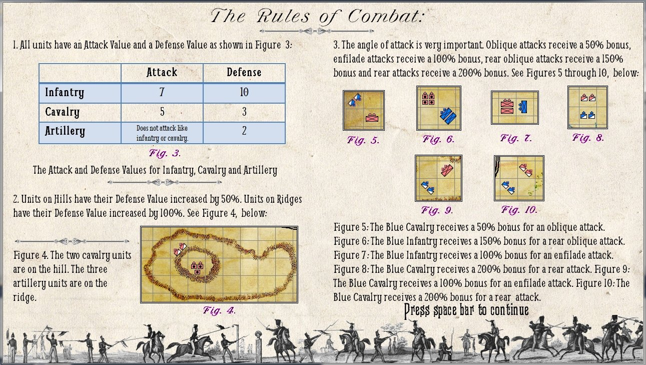 The combat rules for General Staff (screen shot, click to enlarge).