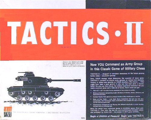 Tactics II from Avalon Hill. The first wargame I played. What was the first wargame you played?