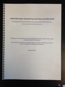 Correcting the Public Record about Online Pharmacies and Personal Drug Importation