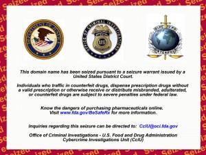 FDA Domain Seizure Warning