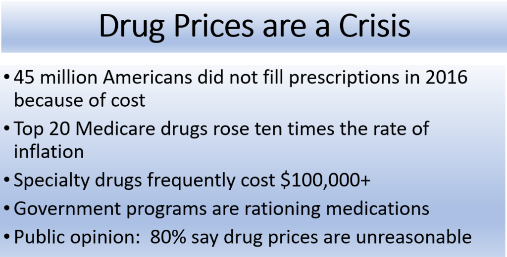 drug price are a crisis