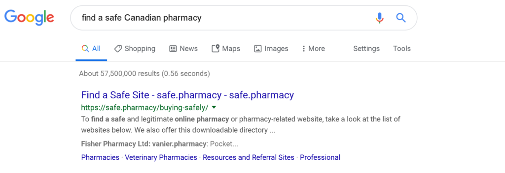 Safe.Pharmacy is funded by drug companies