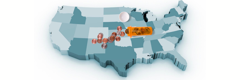 USA penny pill bottle